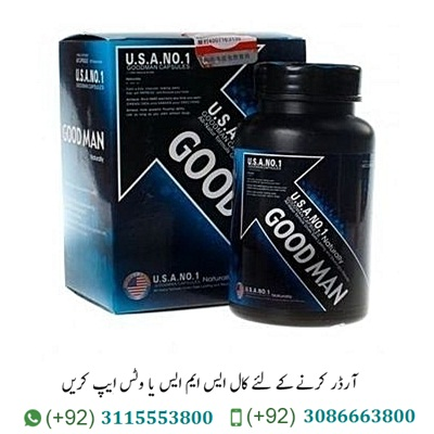 "Good Man Capsules In Pakistan Good Man Capsules In Pakistan is specially designed to prolong sexual intercourse, enlarge penis and increase potency in men. GoodMan Capsules helps with the correction of erectile dysfunctions of various origins, eliminates the effects of stress, increases sexual desire, and promotes rapid recovery after sex.The tool is not addictive, has no side effects, is completely natural, does not contain chemical additives and impurities. Best Male Ehancment Pills ""Goodman"" is a drug designed to treat potency for men of all ages. Its action guarantees a stable erection, and the possibility of repetition of sexual intercourse in short periods of time. An improved formula of the drug ensures the normalization of male sexual health and an increase in sexual desire. There is an opportunity to control the time of sexual intercourse. After completing the full course, a positive effect is guaranteed, which lasts forever. The drug improves the immune system, improves mood and vitality."