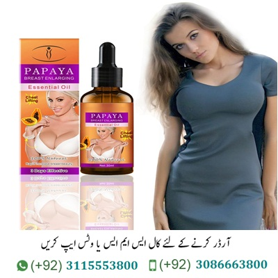 Papaya Breast Enlargement Oil in Pakistan Papaya Breast Enlargement Oil in Pakistan Has No Any Side Effect. Butt Enhancer Cream Big Bust Powerful Breast Enlargement Massage Oil Big Papaya Breast Enlargement Oil Price in Pakistan. Highlights: Original Breast Enlargement Oil in Pakistan Made of solid fixing. Harmless, flavorless and safe to utilize. Increment bosom versatility, improve bosom level, out of shape and hanging and so forth. For bosom expansion, fixing and supporting skin and decrease wrinkles of bosom. Lightweight and versatile size, simple to convey and utilize. Adequacy: to clear the bosom, advance the retention of bosom cells, extend cells, firm pectoralis significant muscle, and make an ideal chest shape. Portrayal: Papaya Oil in Pakistan Empowering female hormones, managing endocrine organs, forestalling bosom disease, and tumor arrangement. Take proper measure of this item and delicately rub it in the ideal position. This item is the compound fundamental oil after arrangement and can be utilized straightforwardly.