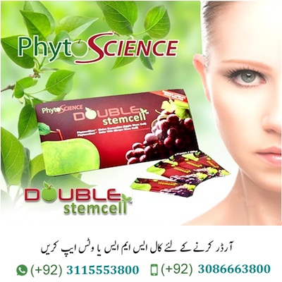 Double StemCell Price in Pakistan Original Double StemCell Price in Pakistan is a Postpones maturing process. Foundation microorganisms are mother cells that can possibly turn out to be any kind of cell in the body. one of the principle qualities of undeveloped cell is their capacity to self-recharge or increase while keeping up the possibility to form into different kinds of cells. undifferentiated organisms can become cell of the blood, heart, bones, skin, muscles and so forth. WHAT IS PHYTO SCIENCE DOUBEL stemcell? PHYTO SCIENCE DOUBLE stemcell plants undeveloped cells mix by utilizing Swiss Plant. Stem Cell Technology – Phyto Cell Tec™ Domestically ( Apple Stem Cell) and PhytoCellTec™ . Solar Vitis ( Grape Stem Cell), advanced with acai berry and blueberry to support your skin from inside, give you a critical outcome.